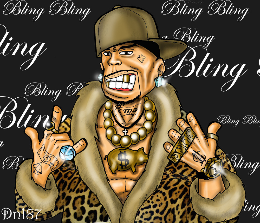 bling bling Showy and expensive jewelry or other ostentatious accessories flamboyant or ostentatious showiness glitz.