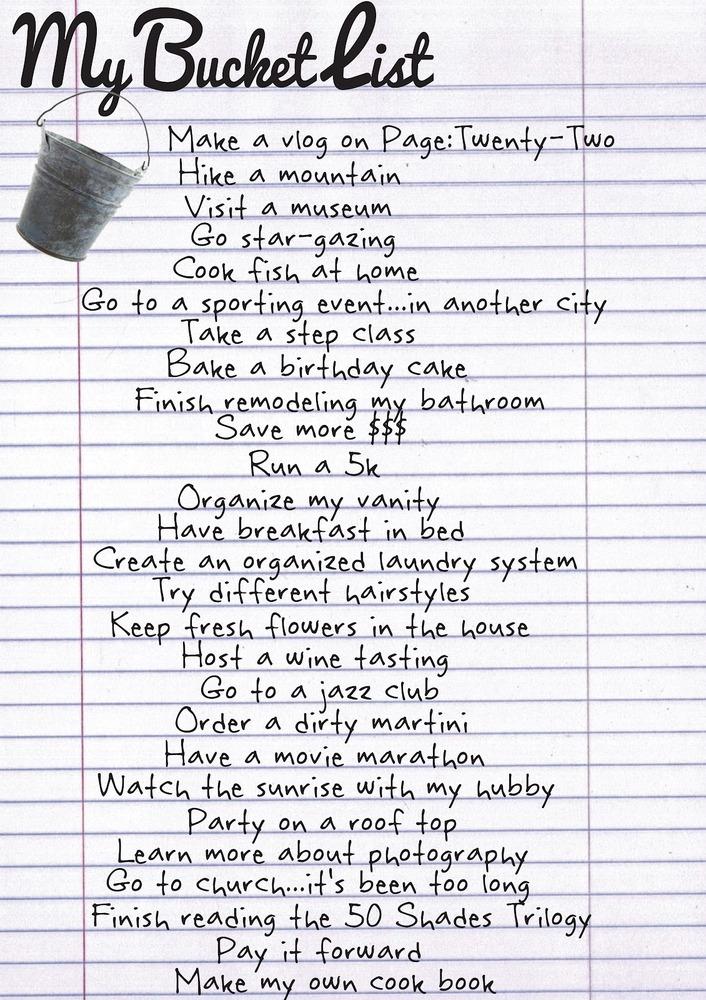 Bucket List Ideas.