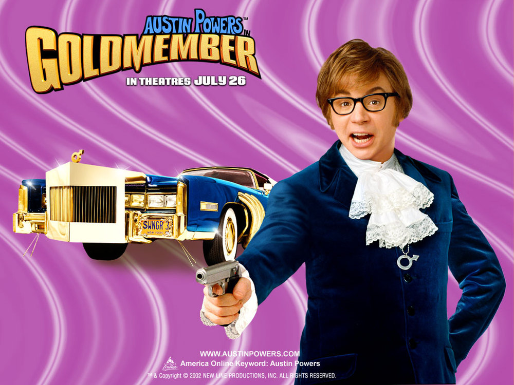 Austin Powers With Gold