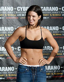 Gina Carano Before Implants Former MMA artist Gina Carano