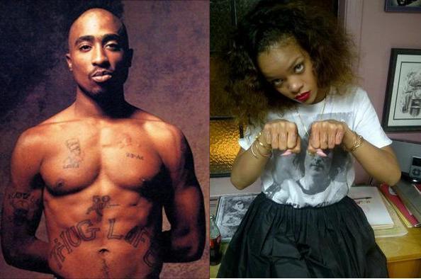 Rihanna Thug Life Tattoo Rihanna 39 s 39 Thug Life 39 Genius