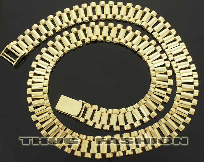 Rolex Link Chain Gold chain rollieTyga Rolex Chain