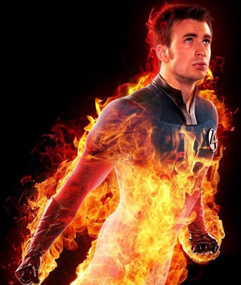 fire man fantastic four