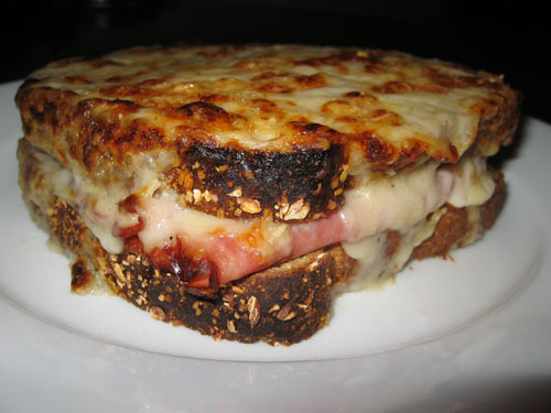 croque monsieur is basically a ham and cheese sandwich but it sounds ...