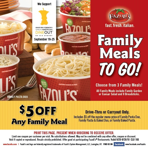 graphic regarding Fazoli's Printable Coupons identified as Fazolis on the net catering coupon code - Bayer usb meter coupon