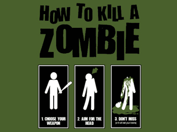 kill zombie walking dead