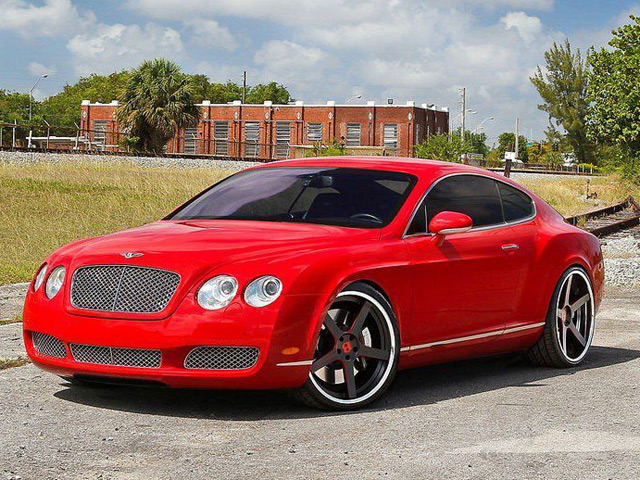 Red Everything Red Bentley Paint Tha Town By Rich Gang