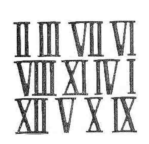 Number in Roman Numerals