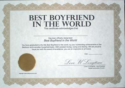 best boyfriend award printable