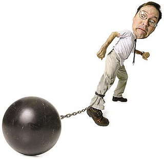 what is a ball and chain relationship