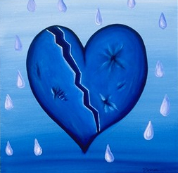 blue heart tears sad pictures, backgrounds and images