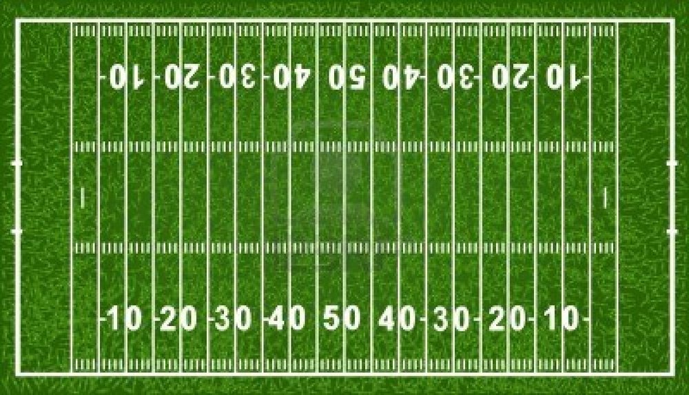 How To Make A Football Field In Backyard :  than a receiver runs down a football field So maybe, 70 yards or so