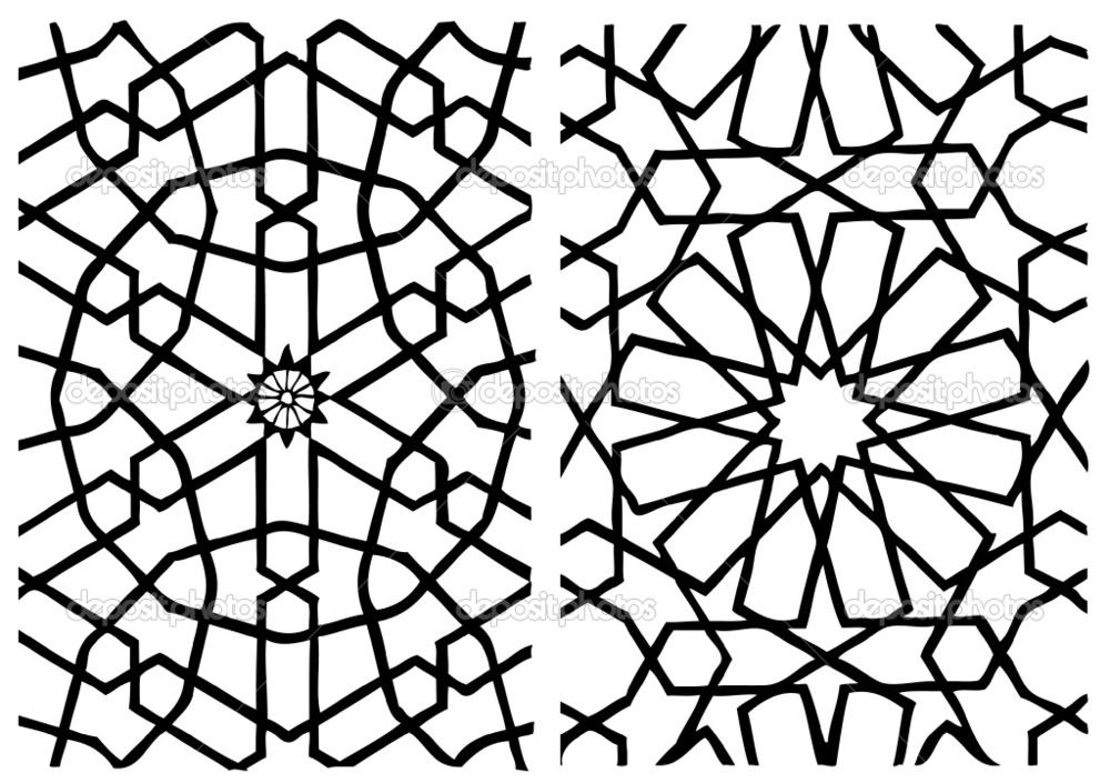Simple arabesque design images for Arabesque style decoration