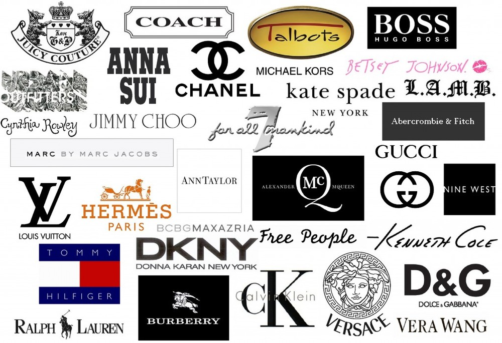 Fashion Designer Brand Logos fashion brand names - world famous ...