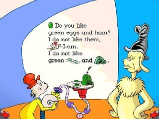 Dr. Seuss Green Eggs and Ham Words