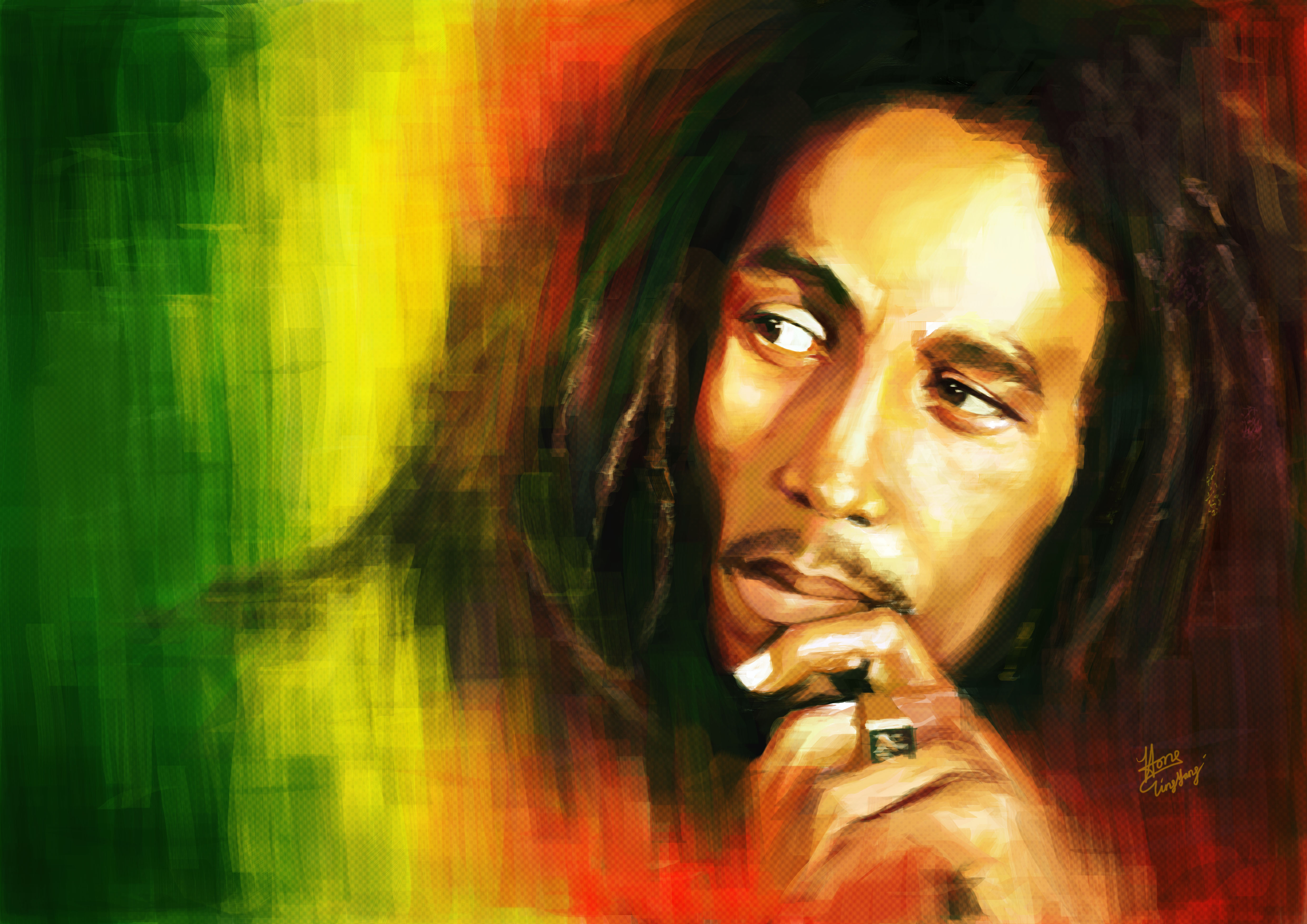 Dizzy has numerous tattoos over his body, so Bob Marley must be ...
