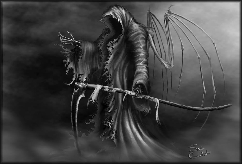 Death lurking   Death