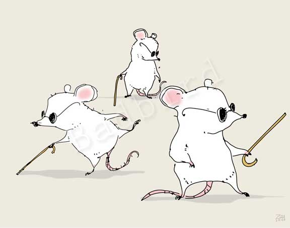 Three Blind Mice Coloring Page Dreams of Three Mice