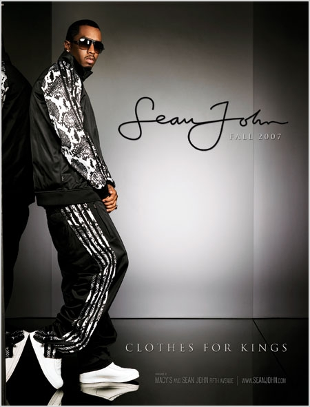 Sean John Clothing Company wearing his clothes