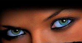 Black girl with green eyes