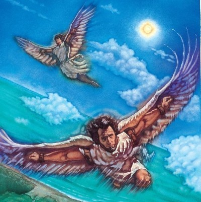a plot review of the story daedalus and icarus Read this essay on icarus literary essay  and irony to tell the story of a young adventeurer who is  before putting wings on icarus, daedalus gives his.
