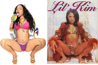 Lil Kim And Nicki Minaj Together She tryna be like Lil  Kim
