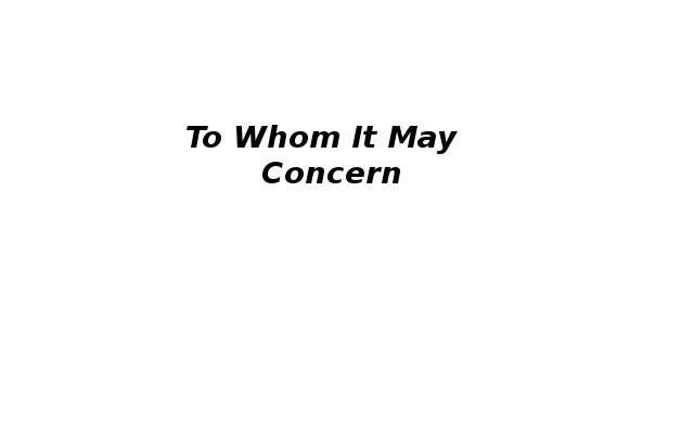 To whom it may concern letter by wale