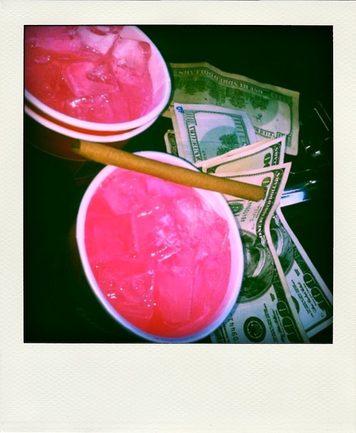 Red Syrup With Sprite Drink
