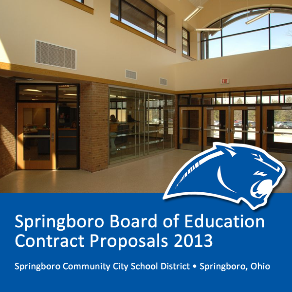Springboro Board of Education Contract Proposals