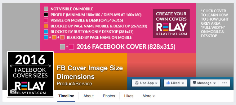 New Facebook Cover + Size Dimensions For 2016