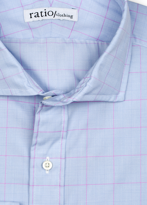 Blue & Pink Glen Plaid