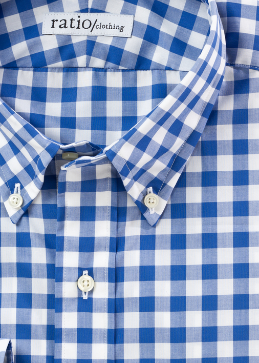 Blue Thomas Mason Gingham