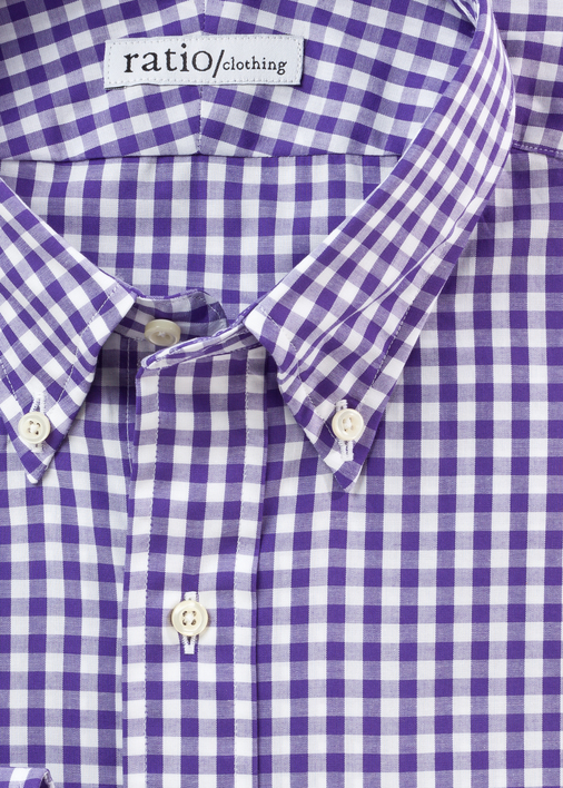 Purple Medium Gingham
