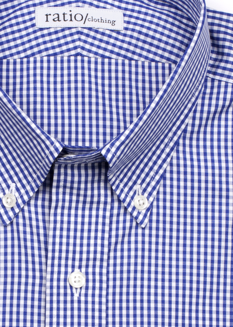 Dark Blue Mini-Gingham