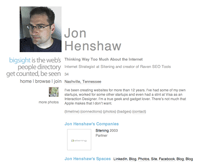 Jon Henshaw's Profile on bigsight.org