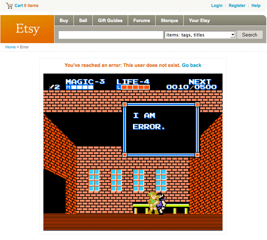 Etsy 404 Page
