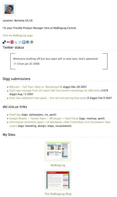 MyBlogLog Active Member Widget