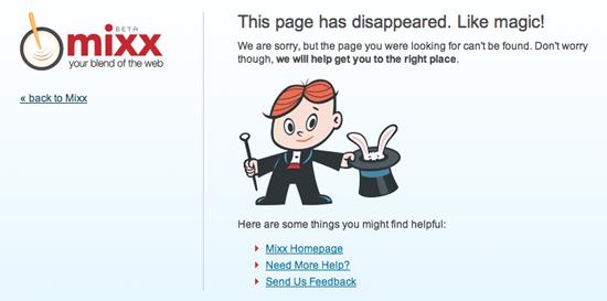 Mixx 404 Page