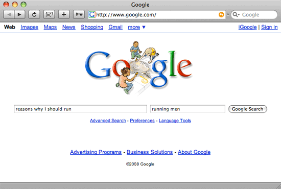 Google Vertical Search Mockup 2