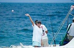 Captain Joan Vernon in search of East Cape stripies... / Mario Bañaga