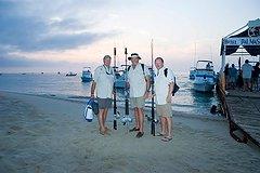 The South African contingent Denham, Warren, and Russell: fishermen, story tellers, good will ambassadors. / Mario Bañaga