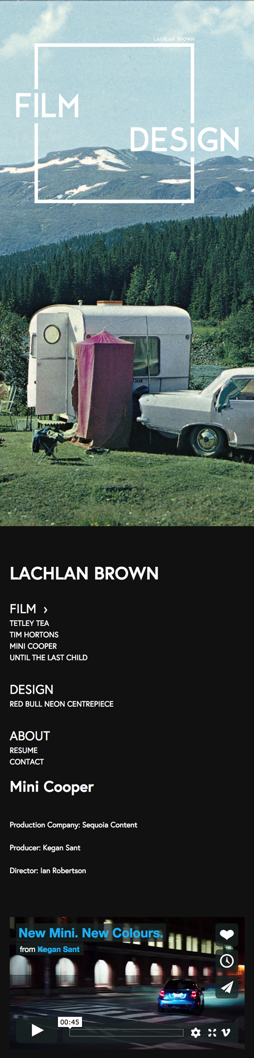 Lachlan website mobile
