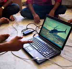 Helicopter on Laptop Mobile