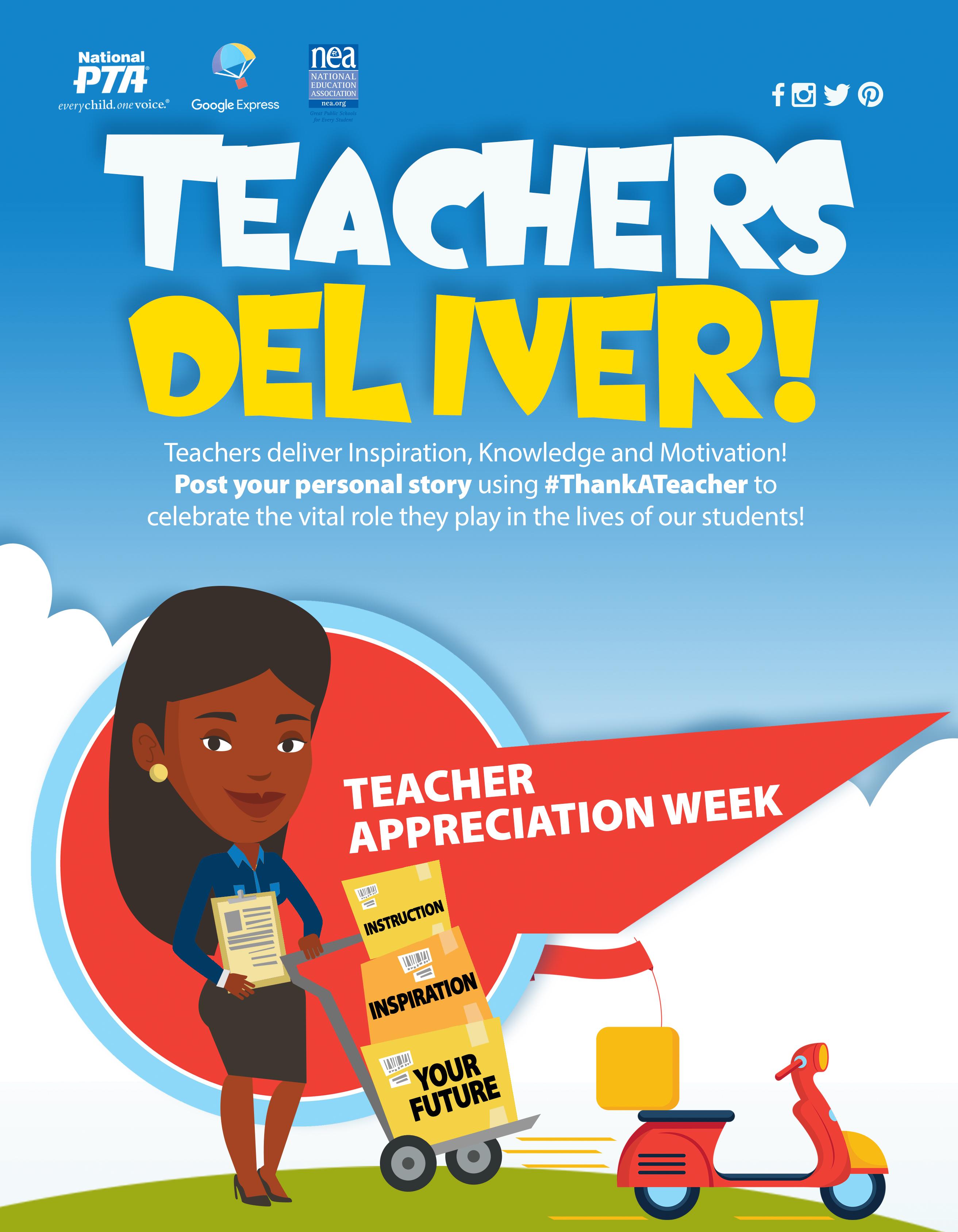 event toolkit teacher appreciation week programs national pta