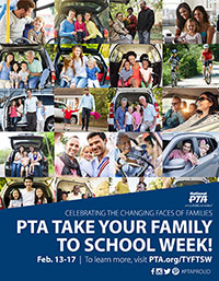 Take Your Family to School Week Poster