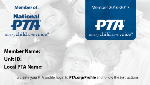 membership card resources for members national pta With pta membership card template