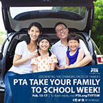 Take Your Family to School Week Social Sharable 3