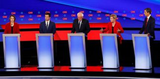 Moderate candidates warn moving too far left will get Trump reelected on night one of the primary debates in Michigan; Kristin Fisher reports from Detroit.