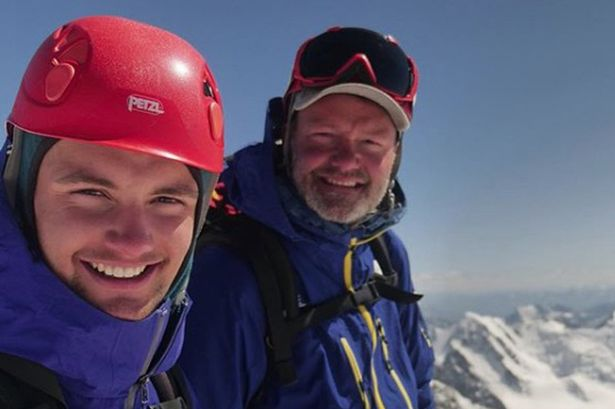 Father and son on an expedition for digital detox