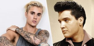 Justin Bieber and Elvis Presley